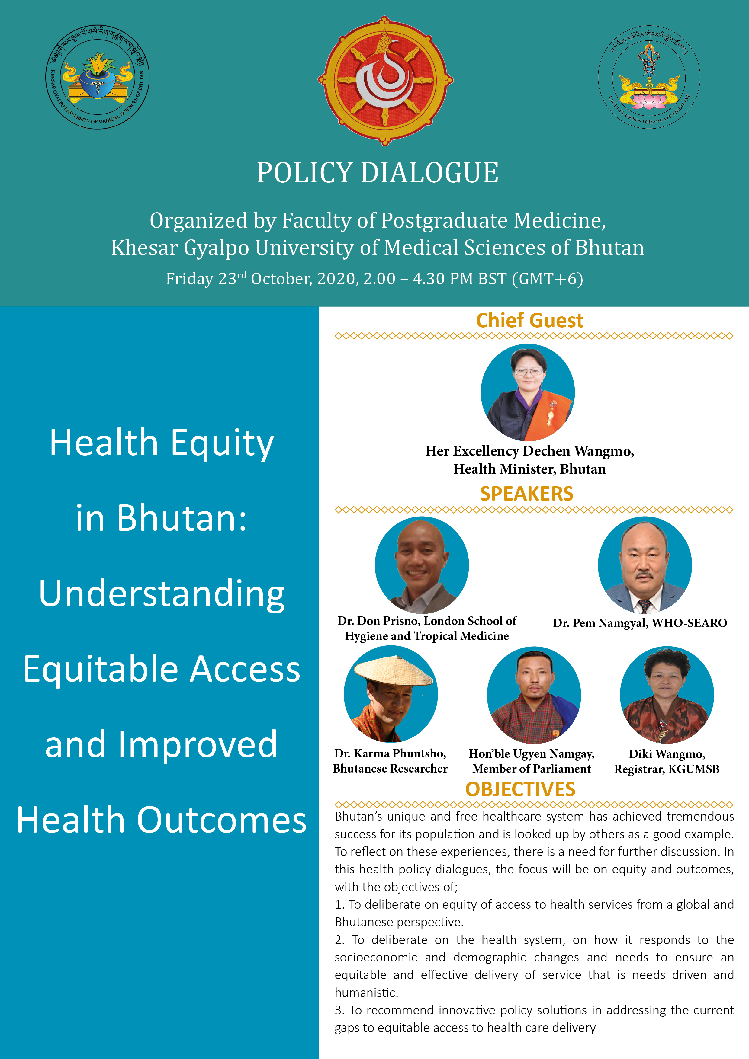 Policy Dialougue on Health Equity in Bhutan: Understanding Equitable Access and Improved Health Outcomes